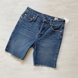 FREE PEOPLE Cadet Blue Cut Off Shorts sz. 26